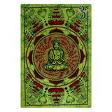 Indian Tapestry Green Lotus Buddha Single Mandala Tapestry Wall Hanging Wall Art Bedspreads Hippie Twin Single Size
