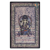 Twin Size Purple Ganesha Hippie Tapestry Wall Hanging Decor Indian Mandala Tapestries Bedspread