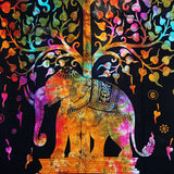 Multi Elephant Tree of Life Yoga Mat Poster Wall Hanging Tapestry Decor Beddding