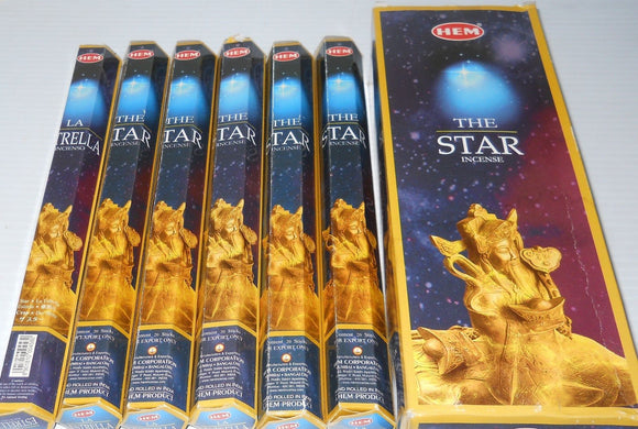 Hem The Star Incense Bulk 6 x 20 Stick (120 Sticks)
