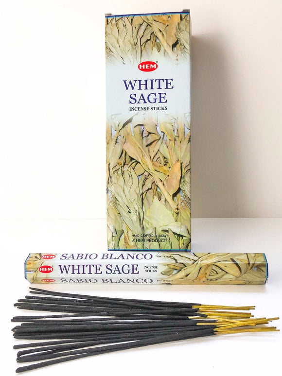 Hem White Sage Incense Bulk 6 x 20 Stick (120 Sticks)