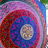 Queen Rawal Mandala Room Wall Decor Bohemian Bedspread Beach Tapestry 90X82""