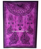 Beautiful Color Indian Dream Catcher Wall Tapestry Twin Size Pink Color
