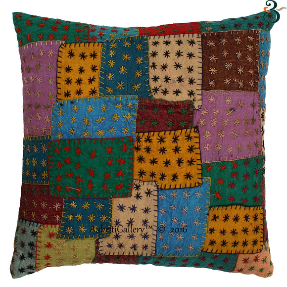 Patch Multi Cover Cotton Cushion Cover 16