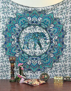 Indian Mandala Tapestry Throw queen Size Elephant Ombre Wall Hanging Throw Decor