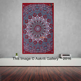 Single Tapestry Mandala Grey Star Tapestry Elephant Hippie Wall Hanging Bohemian Bedspread Throw