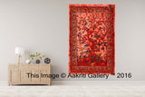 Single Tapestry Mandala Tree of Life Red Tapestry Elephant Hippie Wall Hanging Bohemian Bedspread Throw