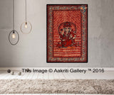 Twin Size Red Ganesha Hippie Tapestry Wall Hanging Decor Indian Mandala Tapestries Bedspread