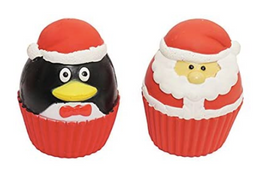 Christmas Cupcake Sqeekies - pack of 2