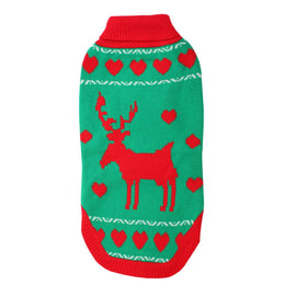 Reindeer Jumper - Green 16""