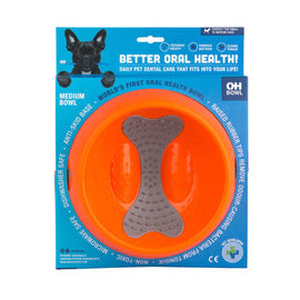 OH Dog Bowl - Orange - Medium 23cm