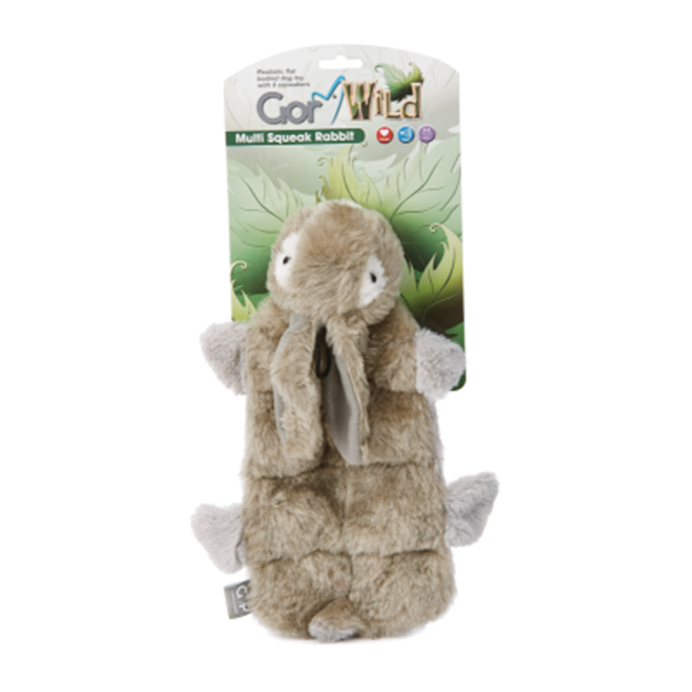 Gor Wild Multi Squeak Rabbit 30cm