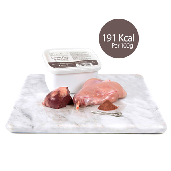 Rabbit with Ox Heart 450g tub