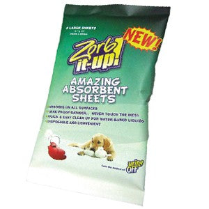 Urine-Off Zorb-It-Up Absorbent Sheets - pack of 2