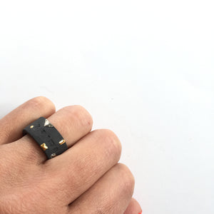 Black Porcelain Ring