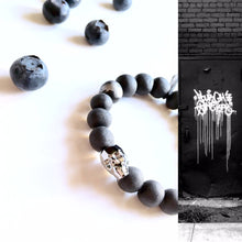Load image into Gallery viewer, Gothic style, skull, black unisex porcelain bracelet