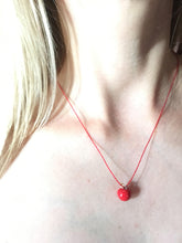 Load image into Gallery viewer, Red apple ceramic pendant, SNOW WHITE