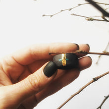 Load image into Gallery viewer, Black porcelain unisex statement ring