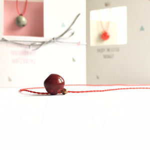 Red apple ceramic pendant, SNOW WHITE