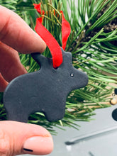 Load image into Gallery viewer, Christmas tree decorations made from black porcelain