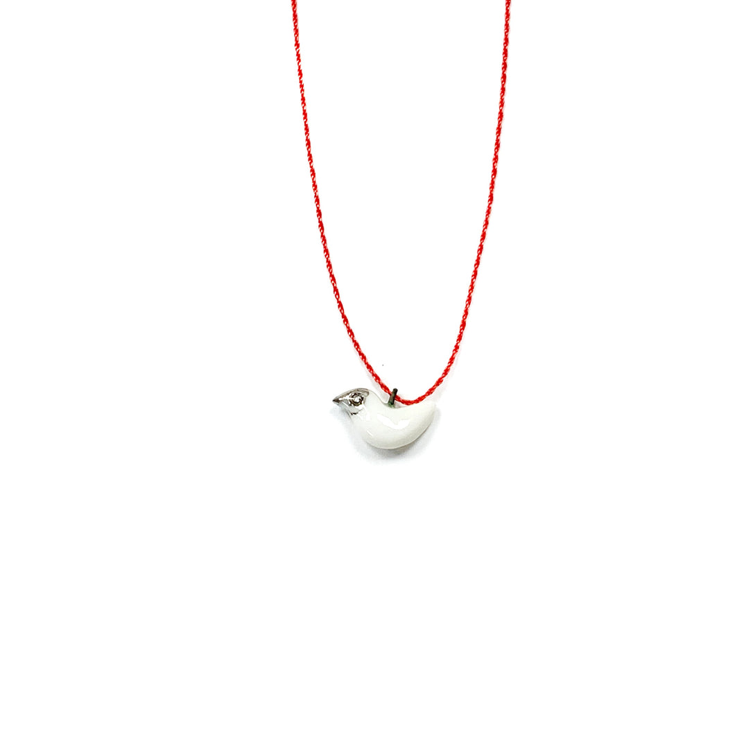 White porcelain pendant WHITE DOVE