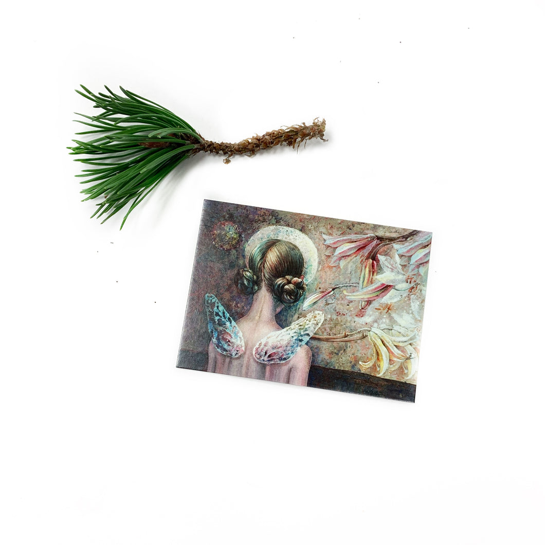 Romantic and lovely mini post card ANGEL