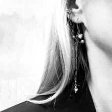 Load image into Gallery viewer, Black porcelain earrings VIRUS-1