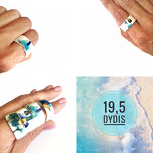 Load image into Gallery viewer, White porcelain ring, two in one SEA GAMES
