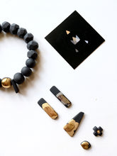 Load image into Gallery viewer, Black porcelain bracelet
