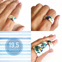 Load image into Gallery viewer, White porcelain ring THE MEDITERRANEAN
