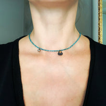 "Load image into Gallery viewer, ""Mediterranean DNA"" black porcelain necklace"