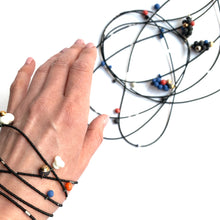 Load image into Gallery viewer, MOLECULES in white porcelain necklace - bracelet