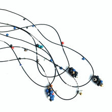 Load image into Gallery viewer, MOLECULES in blue porcelain necklace - bracelet