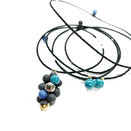 MOLECULE in aqua porcelain necklace - bracelet