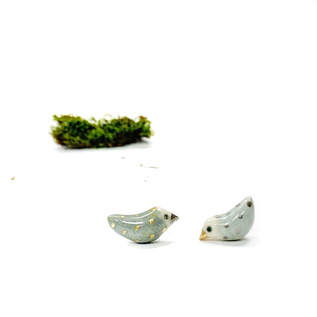 Mini ceramic earrings LOVING DOVES