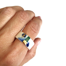 Load image into Gallery viewer, White porcelain ring OUR BALTIC