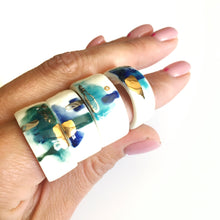 Load image into Gallery viewer, White porcelain two in one ring THE FOREST