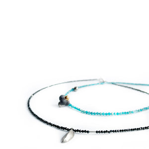 """Mediterranean DNA"" black porcelain necklace"