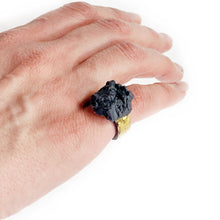 Load image into Gallery viewer, Black porcelain ring BLACK DIAMOND