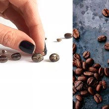 Load image into Gallery viewer, Three coffee beans earrings set