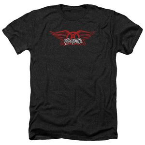 Aerosmith - Winged Logo - Premium Heather Tee