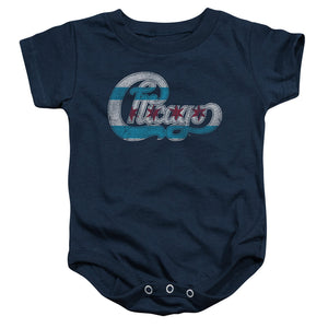 Kids' Chicago Flag Logo Onesie
