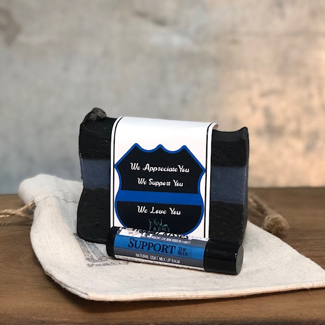 Support The Blue, Goat Milk Soap and Lip Balm Gift Set (Specialty..Limited Run)