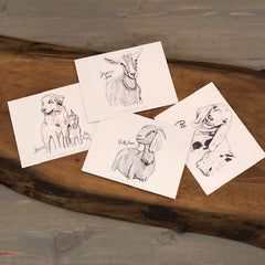 From the Farm, Note Card Set, 4 Cards