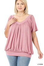 Load image into Gallery viewer, Rosebuds Shirring Top-(All Sizes)