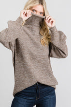 Load image into Gallery viewer, Mocha Turtleneck Sweater-ALL SIZES