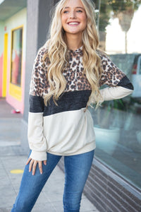 Cashmere Feels Leopard Hoodie-ALL SIZES