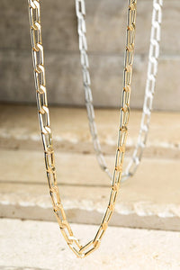 Linked Choker Necklace (Silver or Gold)