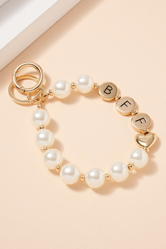 (BFF) Best Friends Forever Pearl Keychain