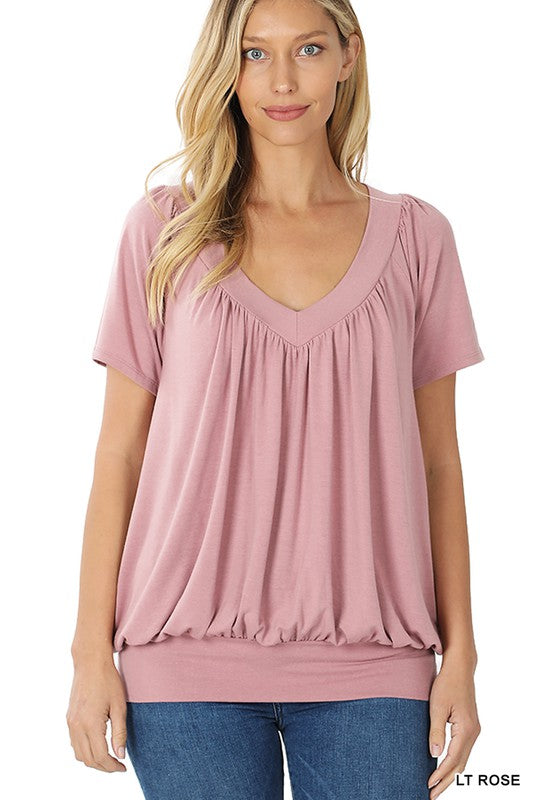 Rosebuds Shirring Top-(All Sizes)